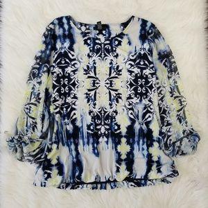 Alfani Women's XL Multi Color Work Blouse